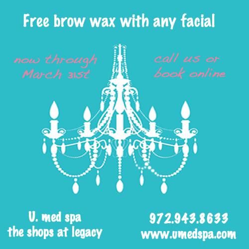 facial:brow wax